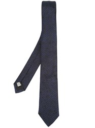 Christian Dior Homme Printed Tie Blue