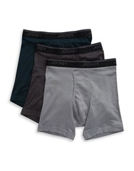 Jockey Three Pack Stay Cool Midway Briefs Grey Assorted