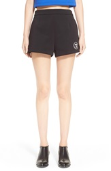 Alexander Wang Bonded Neoprene Logo Shorts Nordstrom Exclusive Black