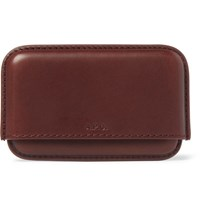 A.P.C. Leather Cardholder Chocolate