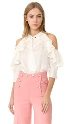 Temperley London Tempest Ruffle Blouse White