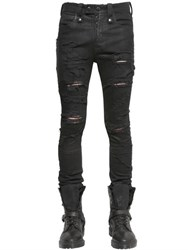 Unravel Skinny Fit Destroyed Stretch Denim Jeans