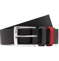 Paul Smith 3Cm Black Textured Leather Belt Black