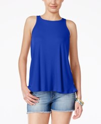 Planet Gold Juniors' Ribbed Swing Tank Top Surf The Web