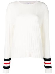 Thom Browne Trompe L'oeil Pleat Pullover White