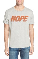 Project Social T 'Nope' Graphic T Shirt Heather Grey