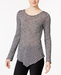 Bar Iii Printed Asymmetrical Top Only At Macy's Grey Combo