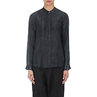 Pas De Calais Women's Matte Satin Shirt Dark Grey