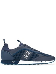 Emporio Armani Ea7 Side Logo Sneakers Blue