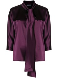 Gianluca Capannolo Cropped Sleeves Blouse Pink And Purple