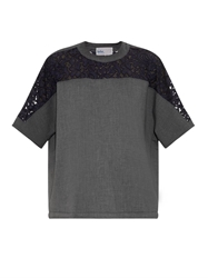 Kolor Lace Panelled Neoprene T Shirt