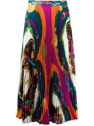 Versace Barocco Rodeo Print Pleated Midi Skirt 60