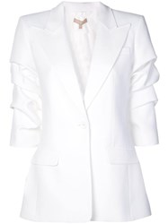 Michael Kors Crushed Sleeve Blazer White