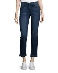Frame Le High Straight Leg Cropped Jeans Blue