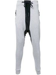 11 By Boris Bidjan Saberi Drop Crotch Sweatpants Grey