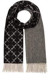By Malene Birger Rabiah Scarf In Black Abstract