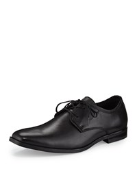 Andrew Marc New York Leather Square Toe Oxford Black Women's
