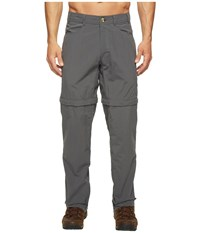 Exofficio Bugsaway Sol Cool Convertible Ampario Pants Dark Pebble Men's Casual Pants Brown