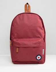 Lambretta Backpack With Target In Burgandy Red