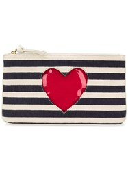 Moschino Cheap And Chic Striped Clutch Bag Blue