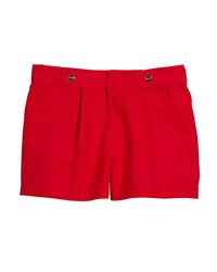 Mayoral Sateen Poplin Pleated Shorts Red