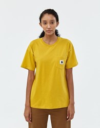 Carhartt Carrie Pocket Tee In Yellow Colza
