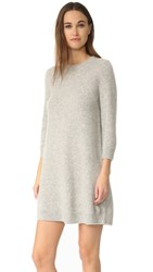 Theory Anderelle Cashmere Dress Grey Melange
