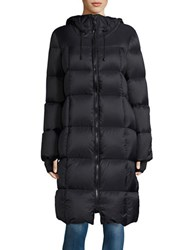 Michael Michael Kors Long Hooded Puffer Coat Black