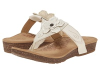 Aetrex Emily Rose Adjustable Thong Antique White Women's Sandals