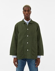Visvim Potomac Twill Coverall Jacket In Olive Size 4 100 Cotton