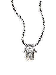 Effy Sterling Silver And 18K Yellow Gold Hamsa Pendant Necklace