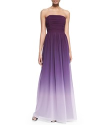 Erin Fetherston Isabelle Strapless Ruched Ombre Gown Violet