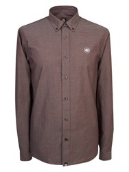 Pretty Green Oldbry Shirt Burgundy