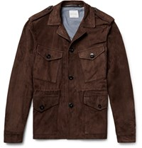 Paul Smith Slim Fit Suede Field Jacket Chocolate