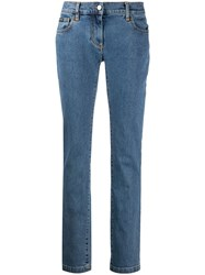 Palm Angels Low Rise Slim Fit Jeans Blue