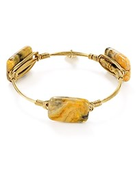 Bourbon And Boweties Agate Bangle Gold