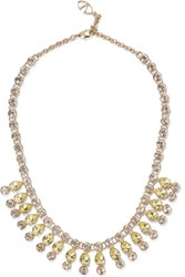 Valentino Gold Plated Crystal Necklace Pastel Yellow