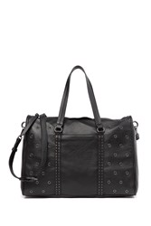 Vince Camuto Avie Grommet Leather Satchel Noir 01
