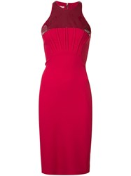 Antonio Berardi Rear Zip Dress Red