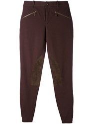 Ralph Lauren Knee Patches Skinny Trousers Women Cotton Spandex Elastane 2 Brown