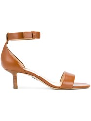 Paul Andrew Side Strap Low Heel Sandals Brown