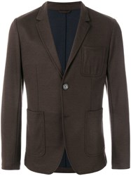 Ami Alexandre Mattiussi Unlined Soft Two Buttons Jacket Brown