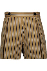 Sandro Pendy Striped Cotton Blend Shorts Fr38 Sand
