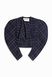 A.W.A.K.E. Preppy Plaid Jacket Blue