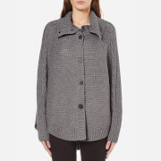 Ugg Women's Maribeth Heavyweight Sweater Knitted Cape Charcoal Heather Grey