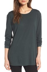 Women's Bp. Side Slit Tee Green Timber