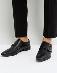 Pier One Leather Monk Shoes In Black