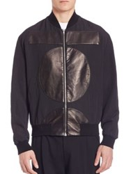 Mcq By Alexander Mcqueen Paneled Bomber Jacket Black