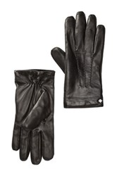 Cole Haan Spliced Leather Gloves Black