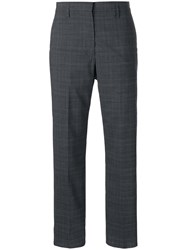 Golden Goose Deluxe Brand Checked Straight Leg Trousers Grey
